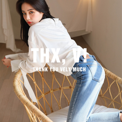 [THX,V] NO.700 Flexible Semi-Skinny Jeans