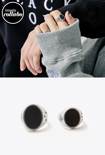 [IMVELY X IMFRICA]Gemstone Ring (Black)
