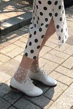 Dotted Mesh Socks